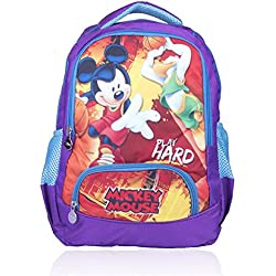 Disney School Bag For Boys & Girls 07+ Years Play Hard 25 (L) Purple (Dm-0063)