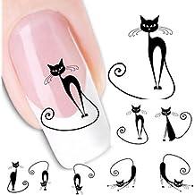 Sannysis® Gatto sticker manicure decalcomania punte di
