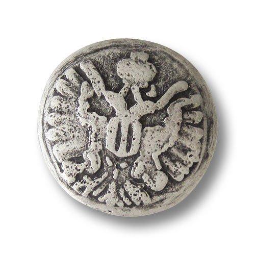 (5528as) 5er Set riesige, schwere Metallknöpfe in altsilberfarben mit Motiv: Reichsadler (Münze Österreich). Tolle Trachtenknöpfe für schwere Lodenmäntel und Kostüme! Durchmesser: ca. ()