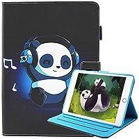 Nuevo iPad 9.7 2018 2017 / iPad Air 2 / iPad Air Funda [Pluma libre del tacto], Billionn Ultra Delgada Colorido Lindo Flip Billetera Protective Folio para Apple iPad 9.7 2018 2017/Air 2/Air (Panda de música)