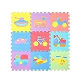 Niedliches Tierpuzzlespiel-PET-Schaum-Spiel-Matten-Baby-Schlafzimmer-Spleiß-kriechendes Matten-Ausgangswohnzimmer -Puzzlekissen (Farbe : #2)