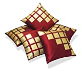 #9: Czar Home Golden Maroon Cushion Covers (16x16) Set of 5