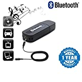 #7: Captcha Bluetooth Stereo Adapter Audio Receiver 3.5Mm Music Wireless Hifi Dongle Transmitter Usb Mp3 Speaker Car Suitable with all Android or Iphone Devices (1 Year Warranty, Color May Vary)
