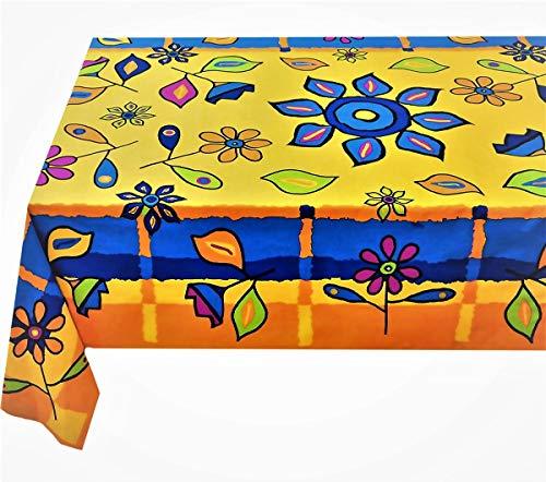 Kutex-tovaglia rettangolare 140 x 240 cm barbablÙ 100% cotone made in italy, arancio