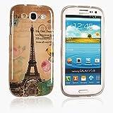 tinxi® Süß Design Schutzhülle für Samsung Galaxy S3 / S3 Neo 4,8 Zoll Hülle TPU Silikon Rückschale Schutz Hülle Silicon Case Eiffelturm