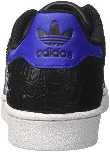 Scarpe Da Corsa Superstar Da Uomo Adidas Nere (nucleo Nero / Blu Grassetto / Blu Scuro)