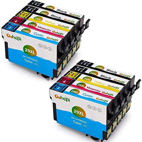 Gohepi 29XL Kompatibel mit Druckerpatronen Epson 29XL 29 für Epson XP-342 XP-332 XP-345 XP-442 XP-445 XP-432 XP-247 XP-335 XP-235 XP-245 XP-435 XP-330 XP-430-4 Schwarz/2 Blau/2 Rot/2 Gelb 10er-Pack