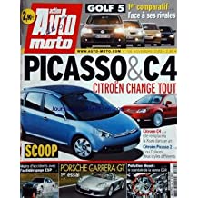 AUTO MOTO [No 106] du 01/11/2003 - golf 5 - 1er comparatif face a ses rivales - picasso et c4 - citroen change tout - moins d'accidents avec l'antiderapage esp - porsche carrera gt - pollution diesel - le scandale de la vanne egr