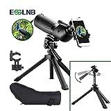 ESSLNB Spektive für Sportschützen Jagd und Vogelbeobachtung IPX7 Wasserdicht BAK4 FMC mit Handy Adapter auszielbarem Stativ und Tasche