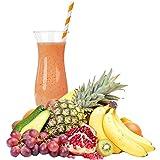 Tropische Frucht Geschmack Eiweißpulver Milch Proteinpulver Whey Protein Eiweiß L-Carnitin angereichert Eiweißkonzentrat für Proteinshakes Eiweißshakes Aspartamfrei (1 kg)
