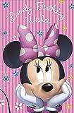 Grußkarte, für Geburtstag, Disney Minnie Maus, Pink