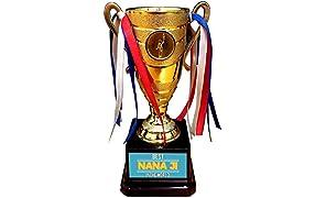 YaYa cafe Alloy Grandfather Best Nana Ji in The World Trophy Golden Champion Award
