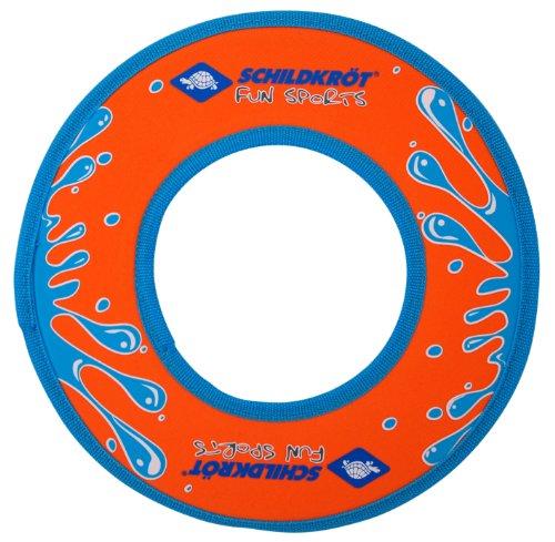 Schildkröt Neopren Ring, Wurfring, Ø 24cm, präziser Flug, orange-blau, im Blister, 970125