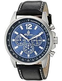 Burgmeister Armbanduhr für Herren mit Analog-Anzeige, Quarz-Uhr und Lederarmband - Wasserdichte Herrenuhr mit zeitlosem, schickem Design - klassische Uhr für Männer - BM608-132 Washington