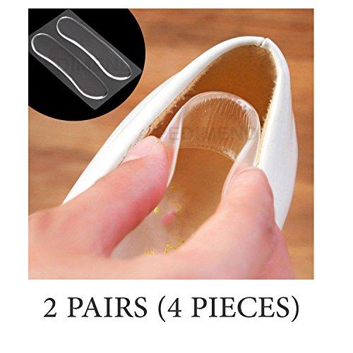 pedimendtm selbstklebend Wiederverwendbar Silikon Gel Fersenpolster (2pairs) | Rückseite der Ferse Kissen | verhindern Blasen/Shoe Verletzungen/Hautreizungen | reduzieren Schuh Reiben | Foot Care (Kissen-insert-runde)