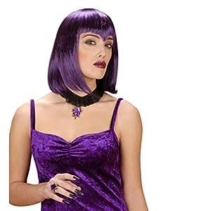 Collier gothique avec pierre précieuse collier vampire noir-argent-violet collier gothique bijou Halloween bijou gothique Dracula sorcières accessoire déguisement