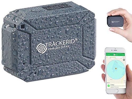 TrackerID GPS Finder: GPS- & GSM-Tracker, Live-Tracking-App, SOS-Funktion, Geofencing, IP66 (Personentracker)