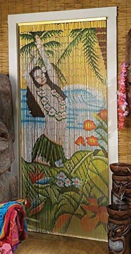 Toscano hawaien Hawaï hawaii Hula Tiki en bambou Écran