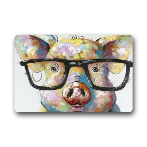 Wamnu SENL Cute Little Pig Custom Durable Indoor/Outdoor Doormat (23.X15.7 Inches)