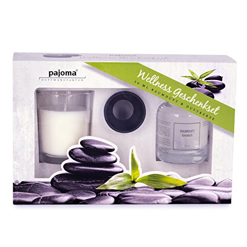 Pajoma Wellness Coffret Cadeau parfumé 50 ML + Bougie parfumée 40 g Bambou