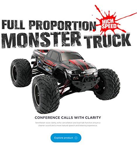 Voiture télécommandée, RC 1:12 Voiture Camion Buggy Challenger Radio télécommande 2.4G Monstre 42 km/h pour Enfants Adulte...