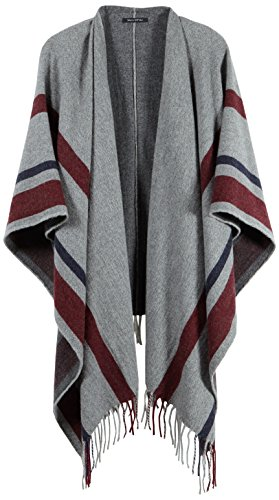 Marc O'Polo Damen Cape 607810309137, Gr. One Size, Mehrfarbig (combo W74)