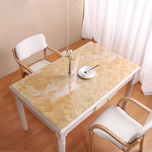 ANDEa Wasserdichte Tischdecke, PVC Marmor Muster Tischset Esstisch Couchtisch TV Schrank Tischdecke Soft Tischset Glas Tisch Tischset Restaurant Cafe Tischdecke Länge 60-180 cm Gemütlich ( Farbe : B , größe : 80*120cm )