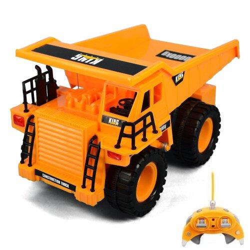 RC ferngesteuerter Tieflader Baustellen-Fahrzeug Modellbau, Auto, Bagger-Modell 1:22 Ready-To-Drive + Schwenkbarer Arm, Neu