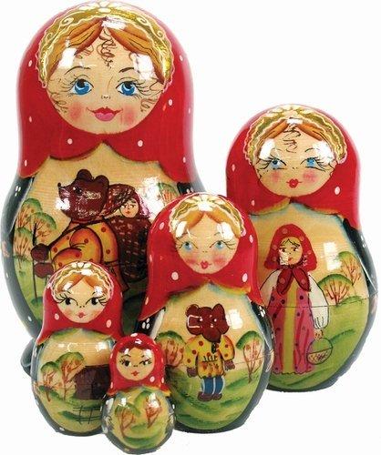 Ornament Nesting Doll (G. DeBrekht Bär Tale verschachtelt Puppe, 12,7cm)