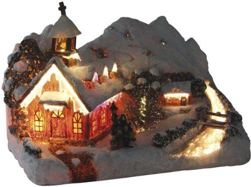 insatech Bergkapelle durch Fiberoptik beleuchtet Weihnachtskirche mit Farbwechsel