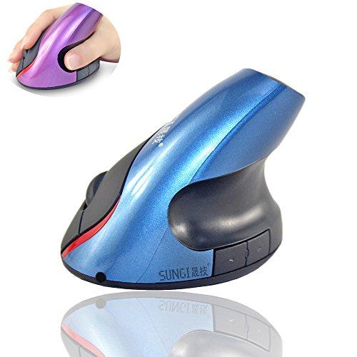 Csy Aufrechte Maus, ergonomisch, Maus wiederaufladbar, 2.4G Wireless vertikale ergonomische 5-Tasten Maus (Mickey Und Ohren Minnie)