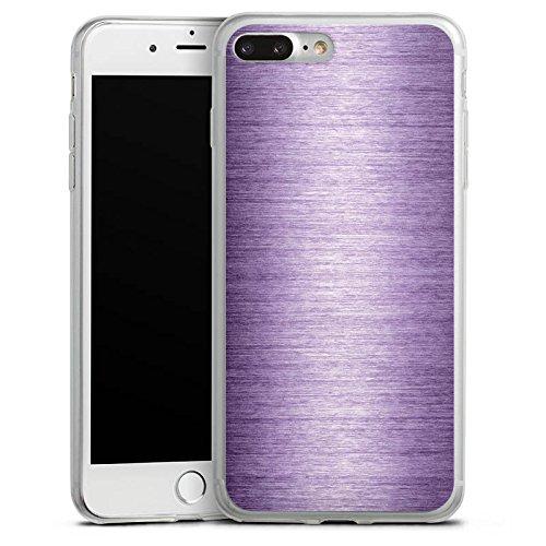 Apple iPhone 8 Slim Case Silikon Hülle Schutzhülle Metal Look Lavender Metall Lila Silikon Slim Case transparent