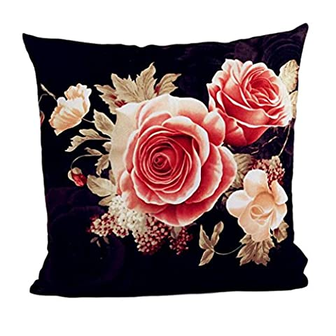 Mallcat Printing Peony Sofa Bed Home Decor Pillow Case 45cm*45cm/18*18