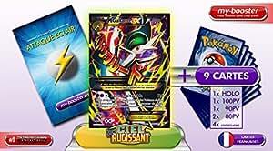 MEGA GALLAME EX Full Art 100/108 220PV XY06 Ciel Rugissant - Booster optimisé ATTAQUE ECLAIR de 10 cartes pokemon Francaises