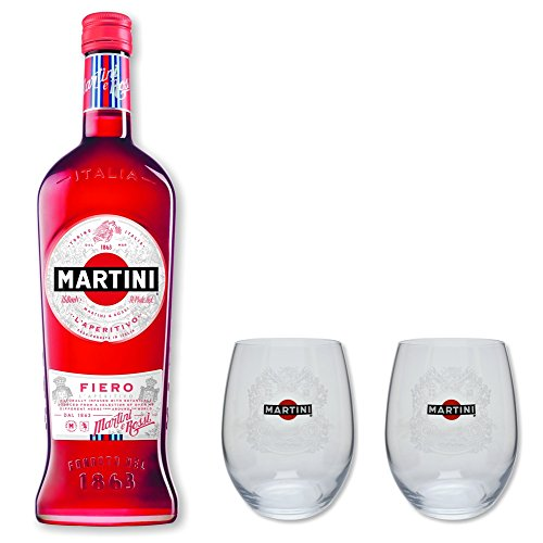 Martini Fiero 14,4% 0,75l - Set mit 2 original Martini Gläser
