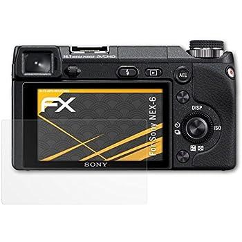 Sony NEX-6 Displayschutzfolie - 3 x atFoliX FX-Antireflex blendfreie Folie Schutzfolie