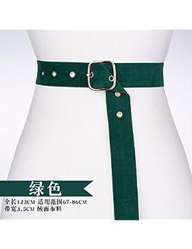 2018 primavera y verano moda tendencia cinta faja chica decorar vestido suéter abrigo de cintura Verde
