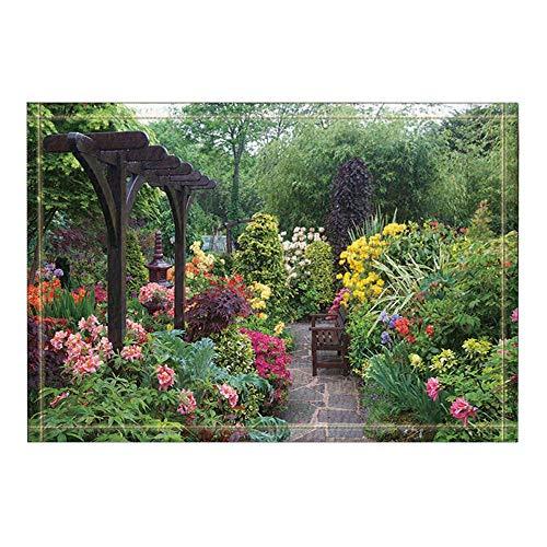 MMPTn Decoración Verde Arboles Flores Alfombras baño