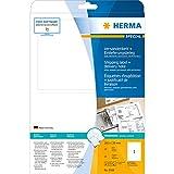Herma 8316 Versandetiketten mit Einlieferungsbeleg o. Rechnung (182 x 130 mm auf DIN A4 Papier matt, blickdicht) 25 Stück auf 25 Blatt, weiß, bedruckbar, selbstklebend