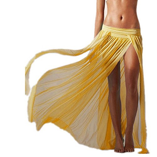 Frauen Girls Fransen Quasten Rock Bikini Cover up Sarong Bademode Bottom Wrap Dress Cover up Beachwear Badeanzug Sommer Urlaub (Wrap Set Skirt)