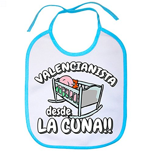 Babero Valencianista desde la cuna Valencia fútbol - Celeste