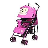 Leichte Baby Trolley-4 Wheel Fold Super Stoßfest Kinderwagen -von Geburt Bis 25 Kg,Pink