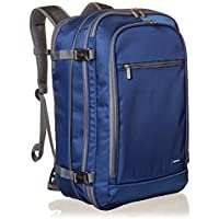 AmazonBasics Carry-On Travel Backpack, Navy
