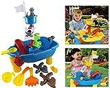 Brigamo 8939 - Piratenschiff Spieltisch Wasserspielzeug für Kinder