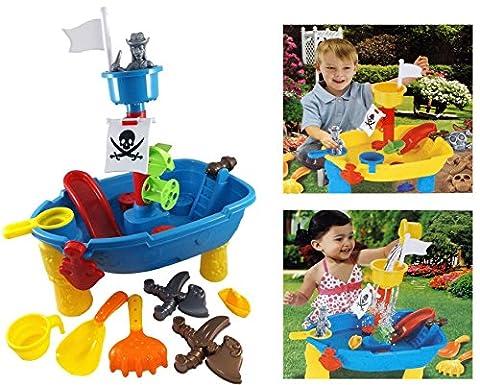 Brigamo 8939 - Piratenschiff Spieltisch Wasserspielzeug für Kinder, Spielzeug für die Badewanne oder (Smoby Kletterturm)
