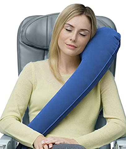 Travelrest - Ultimate Travel Pillow - Ergonomic - Lean Into It To Sleep - Fall Asleep Faster, Stay Asleep Longer (Rolls Up Small)