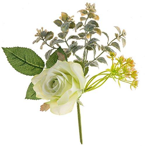 Quallen Mit Kostüm Licht - Lazzboy Künstliche Gefälschte Rosen Kunststoff Blume Brautstrauß Hochzeit Home Decor Unechte Blumen Eustoma Blumen Halten Bouquet(A)