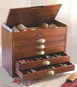 DMC Boîte collector en bois avec Gamme complète (465) DMC fils