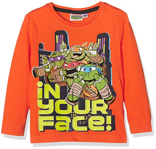 Nickelodeon Jungen T-Shirt Ninja Turtles, Orange (Mandarine), 8 ()
