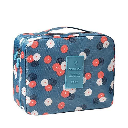 Bcfuda beauty case,valigetta per trucchi con divisori, borsa da viaggio per cosmetici, valigetta organizzativa con custodia di pennello 21 x 16 x 8cm